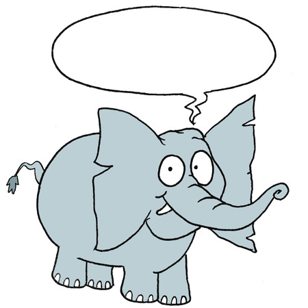 plectrum: Speaking cute elephant