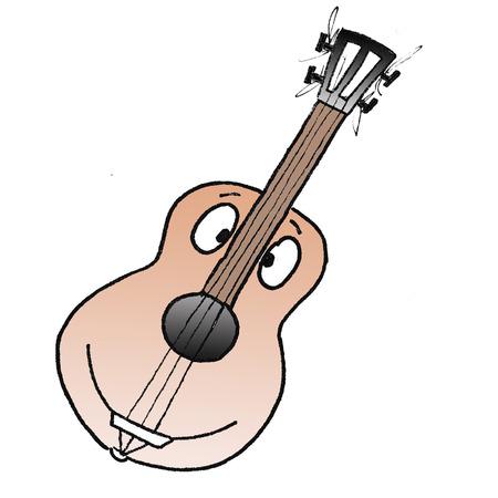 cute guitar Imagens - 33116869