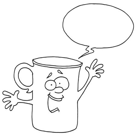 それって何か白いカップ - 吹き出し