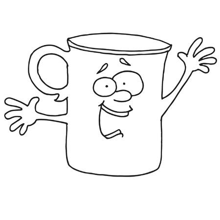 それって何か白いカップ  イラスト・ベクター素材