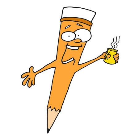 lay: Drinks Coffee Orange Pencil