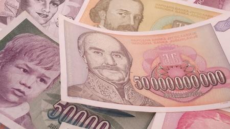 serbian: Serbian inflation banknote Money background