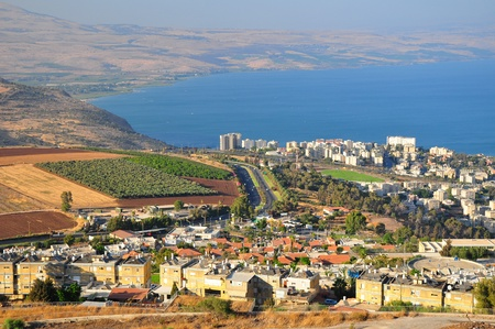 Tiberius city and the sea of Galilee ( Lake Kinneret). Stock Photo - 8843366
