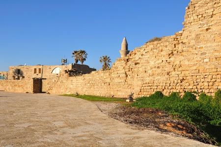 caesarea: Wall of Antique Caesarea  Stock Photo