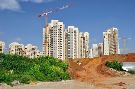 Construction site of a new residential area.