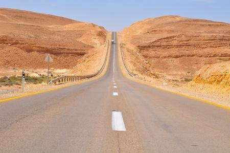 Desert road.  photo