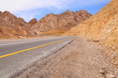 Highway in Negev desert