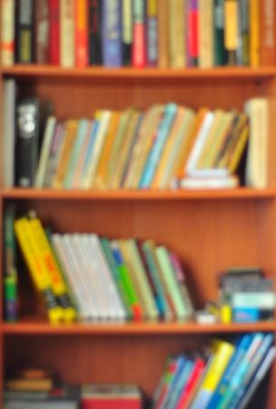 Bookcase. Soft focus. Stock Photo - 9228327