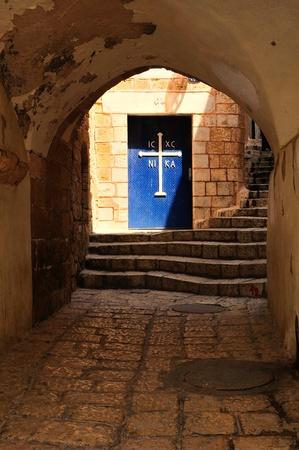 Door of St. Michael church. Jaffa.