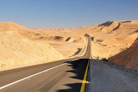 negev: Highway in Negev desert. Israel.