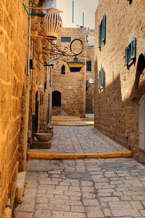 Old street in Jaffa  Israel