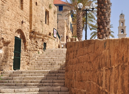 Staircase passage in the center of old Jaffa