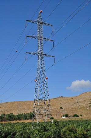 isolator insulator: Massive pylon. Stock Photo