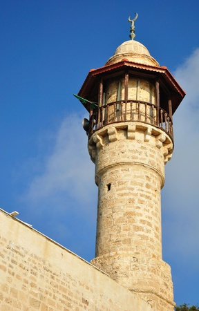Jaffa mosque tower. Israel.