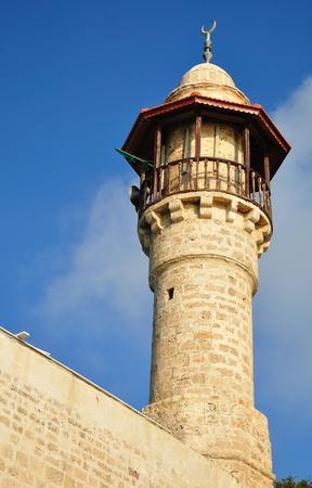 holyland: Jaffa mosque tower. Israel.
