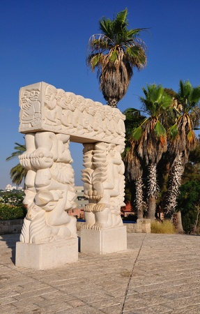 Statue of faith in abrasha park. Jaffa. Israel. Stock Photo - 9925189