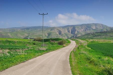 golan: Road to Golan heights. Stock Photo