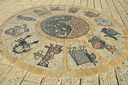 Zodiac signs circle in old Jaffa  photo