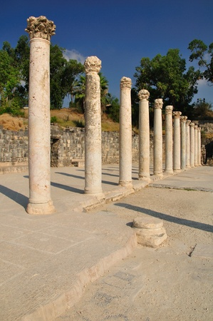 Columns of ancient city Beit Shean  Israel