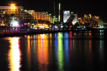 Eilat seashore by night