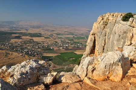 tableland: View from Arbel cliff. Israel.