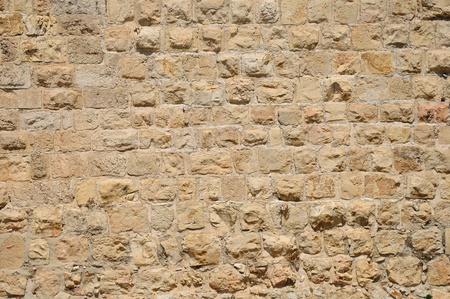 holyland: The wall of Old Jerusalem  Stock Photo