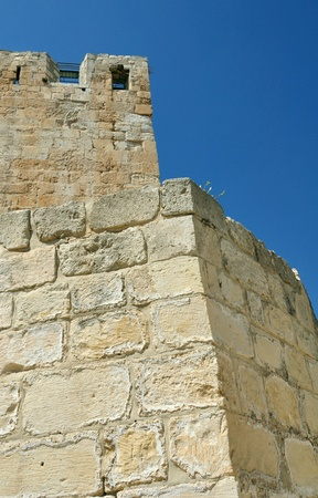 holyland: King David tower in old city of Jerusalem.  Stock Photo