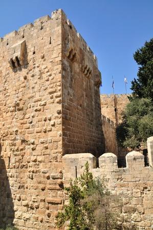 holyland: King David citadel. Old Jerusalem.