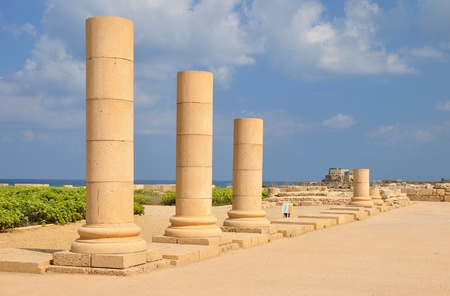 holyland: Caesarea park of ruins.