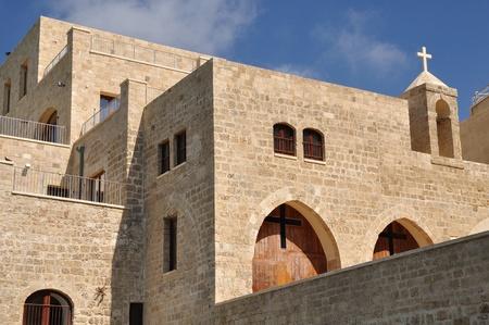 yaffo: Iglesia cristiana en el terrapl�n de Jaffa.