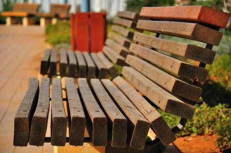 Benches.   Stock Photo