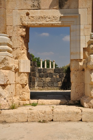 Ruins of ancient Beit-Shean. Israel.  Stock Photo