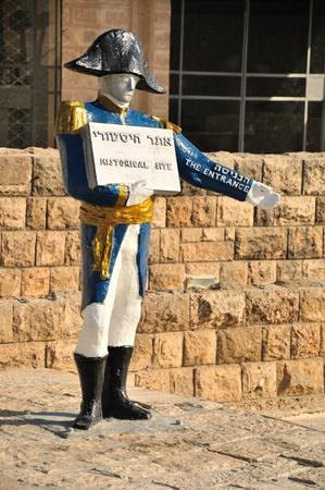 Statue of Napoleon in Jaffa. Israel.