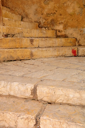 yaffo: Vieja escalera en la ciudad de Jaffa. Israel.