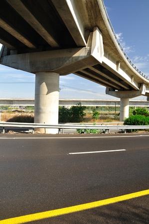 Bridge over Israeli number one highway  Vertical image