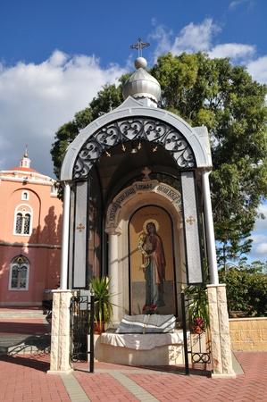 holyland: Righteous Tavifa Chapel in apostle Peter church yard  Tel-Aviv  Israel