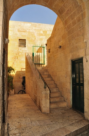 Entrance to to a house in Old City of Jerusalem Stock Photo - 13231834