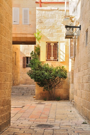 Small yard  in Old City of Jerusalem. photo