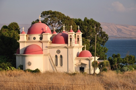 Greek Orthodox church in Capernaum  Israel