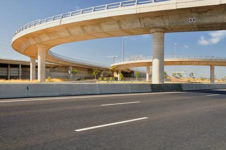 Turn bridges over Israeli number one highway