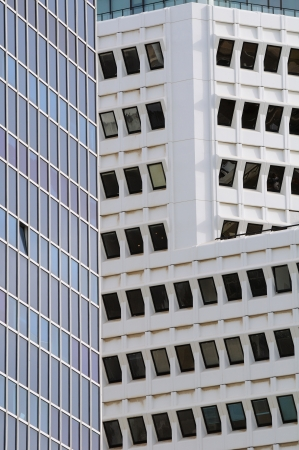 Abstract view of modern buildings in Tel-Aviv  photo