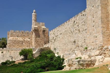 holyland: King David tower and Old Jerusalem wall