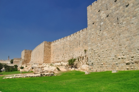 holyland: Western part of the wall of Old Jerusalem   Editorial