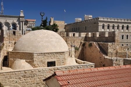 View of Eastern part of old Jerusalem  photo