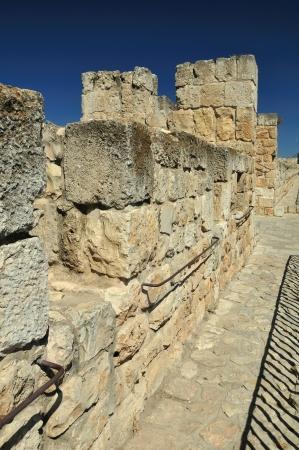 holyland: Inner part of old Jerusalem wall