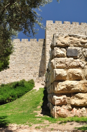 holyland: Western part of Jerusalem wall  Stock Photo