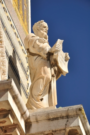 holyland: One of the saint statues on the all nation church  Jerusalem