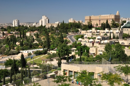 View of Jerusalem landscape from Old city wall
