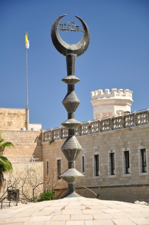 The steeple of a mosque in Old Jerusalem city