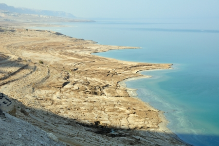 The view of the northern part of the dead sea  Stock Photo